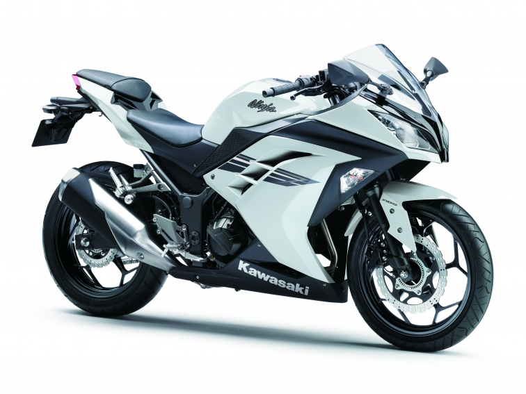 grey kawasaki ninja 300 with abs