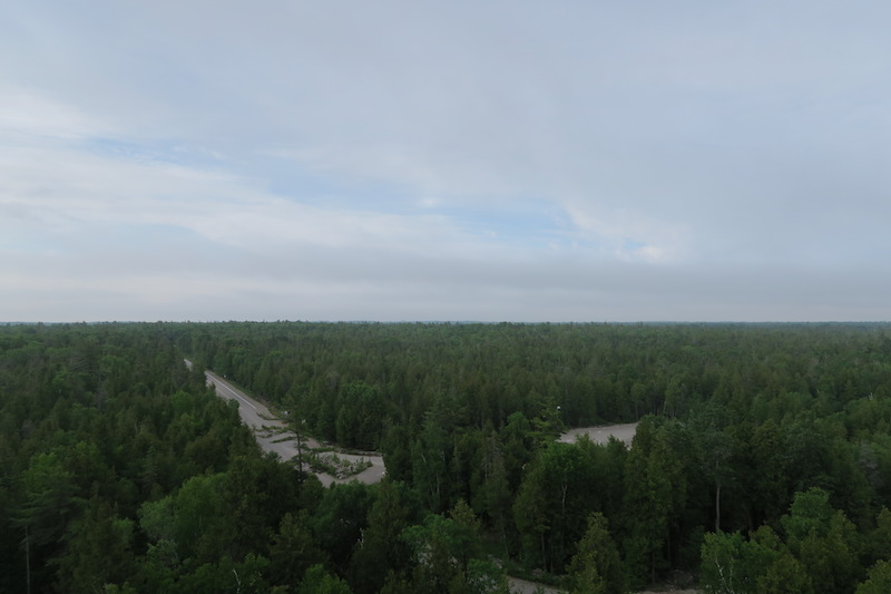 view from the top of the bruce peninsula visitor centre lookout tower