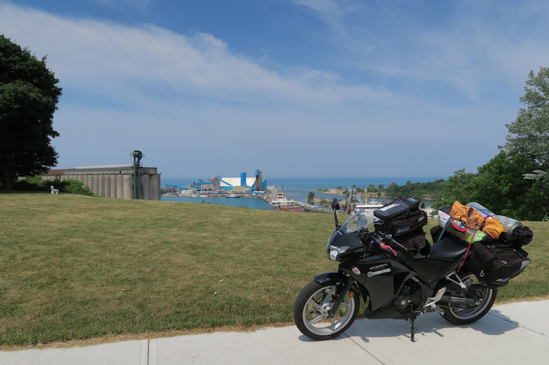 goderich salt works motorcycle view