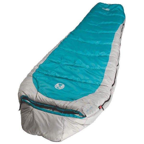 lightweight blue coleman sleeping bag