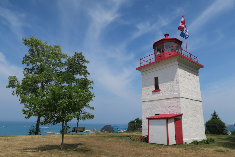 the goderich lighthouse overlooking lake huron