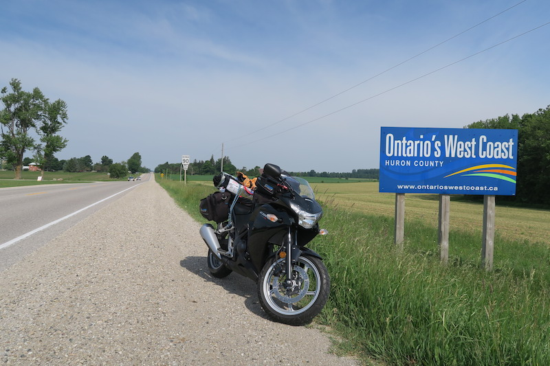 motorcycle trip to huron county
