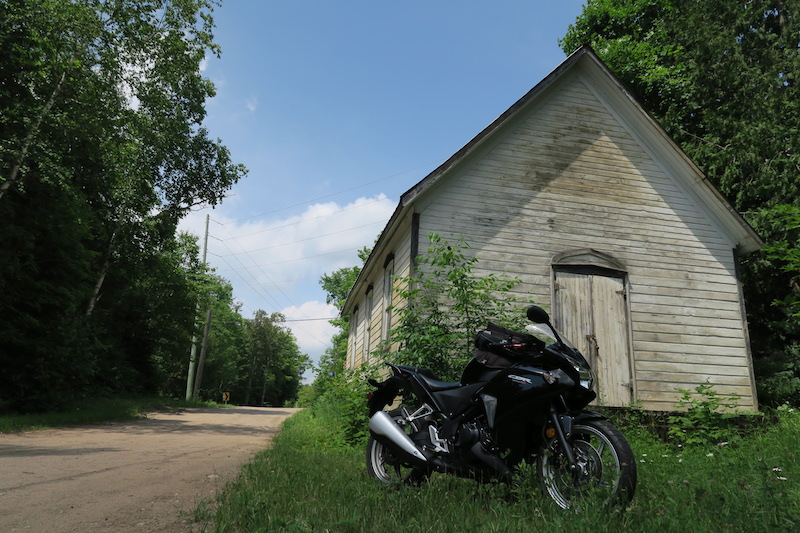 old abandoned church near haliburton