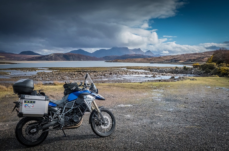 bmw motorcycle touring in scotland