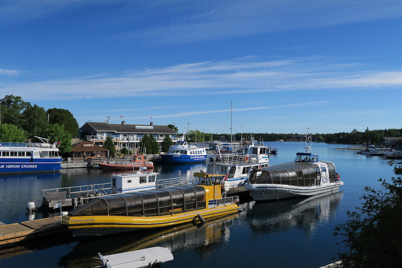 tobermory marina where the bruce trail ends