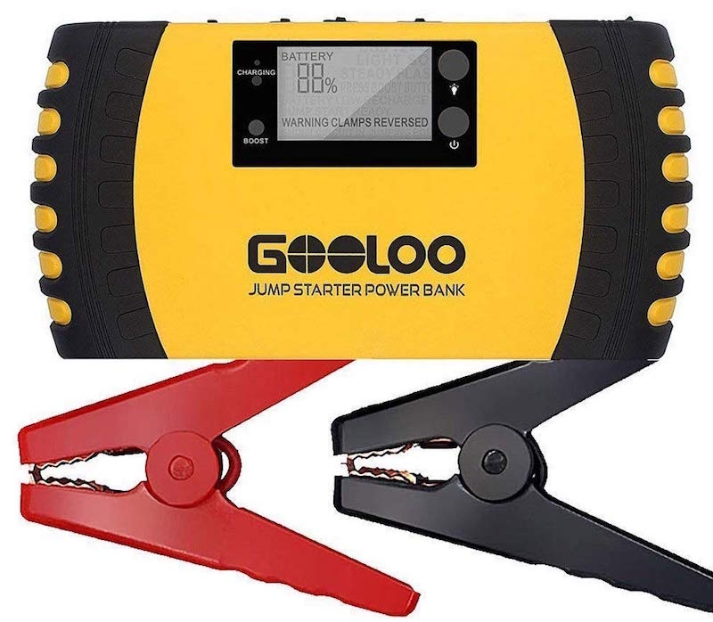 GOOLOO 1000A Peak 20800mAh SuperSafe Jump Starter