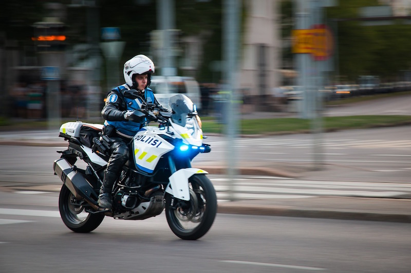 police officer riding a motorcycle