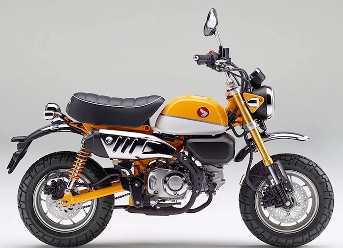 yellow honda monkey