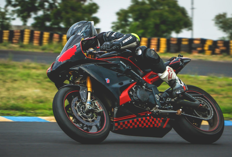 track day on the motorbike