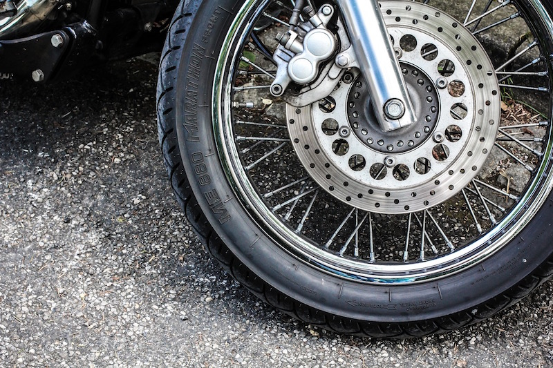 keep motorcycle tire pressure at recommended levels
