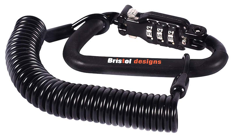 Bristol Designs Heavy Duty Black Combination Lock Cable