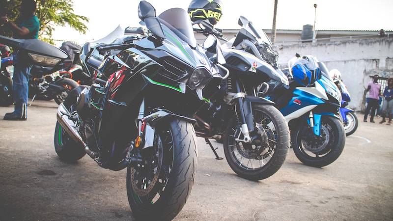 sport bikes parked in a row