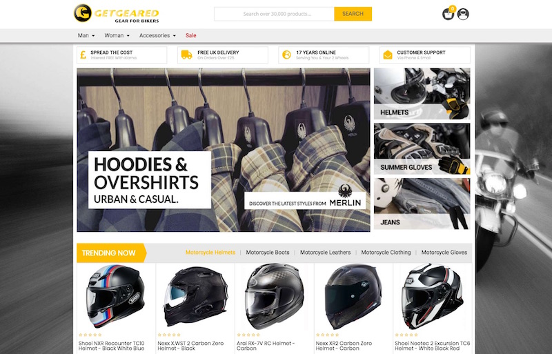 get geared uk motorcycle shop