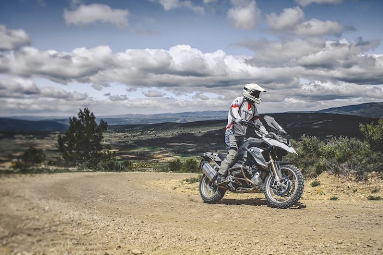 touring on a bmw gs motorcycle