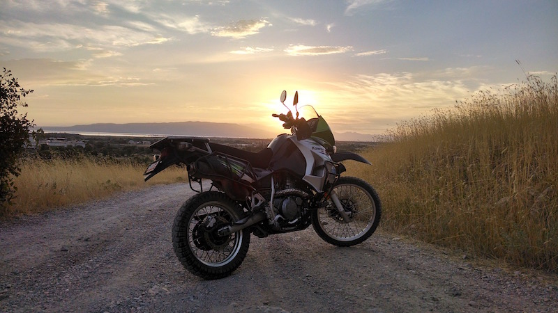 touring offroad on a klr650