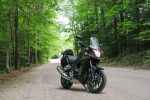 motorcycle cruising in gravenhurst