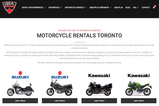 GTA Exotics (Toronto Motorcycle Rental)