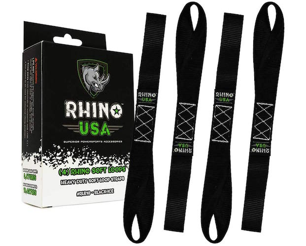 RHINO USA Soft Loop Motorcycle Tie Down Straps