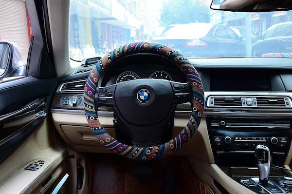 Valleycomfy Boho Cloth Steering Wheel Cover