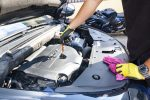 changing car engine oil