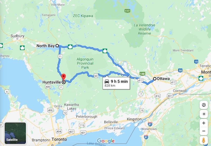 algonquin motorcycle route