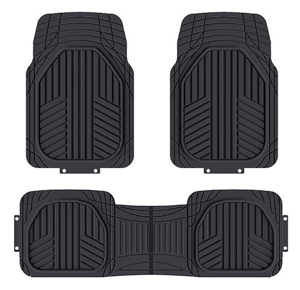 AmazonBasics 3-Piece All-Season Heavy Duty Rubber Floor Mat
