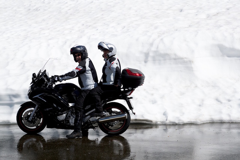 winter motorcycle touring