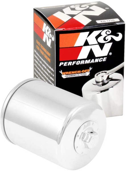 K&N High Performance Chrome Oil Filter