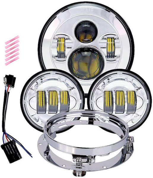 TRUCKMALL LED Headlight With Fog Passing Lights