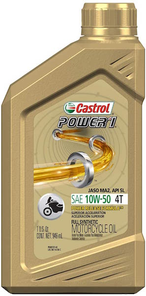 Castrol 06114 POWER 1 Synthetic Motorcycle Oil