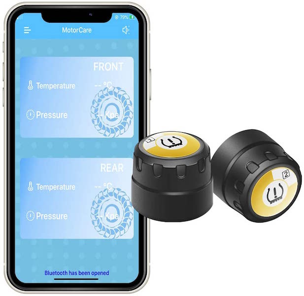 BARTUN Wireless Tire Pressure Monitoring System for Motorcycles